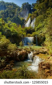The Lor Su waterfall in Thailand, Tak province