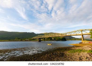 Lora Falls Bridge near Glencoe in Scotland