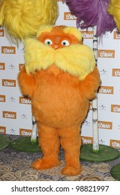"The Lorax poses for photographers to promote his new film ""The Lorax"" at Dorchester Hotel, London. 12/03/2012 Picture by: Steve Vas / Featureflash"