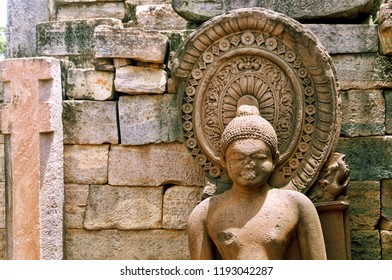 Lord Buddha deity at Sanchi stupa, India