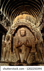 Lord Buddha inside the Ajanta caves