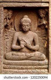 Lord Buddha on walls of Ajanta