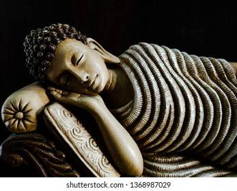 lord buddha sleeping for social media template and website banner