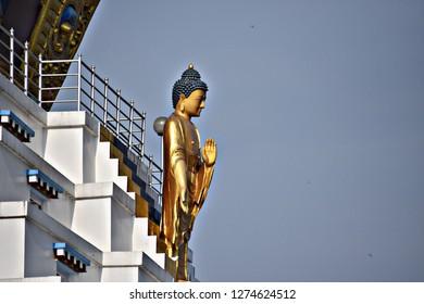 Lord Budha statue in dehradun.