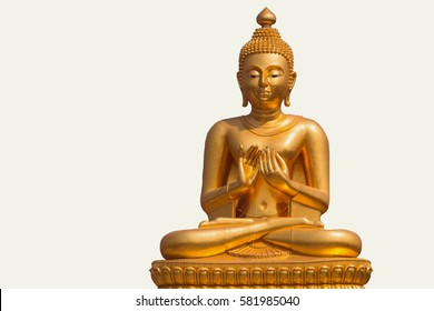 Lord Budha Statue Gold