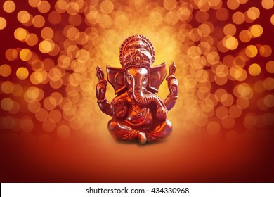 Lord Ganesha with Blured bokhe background