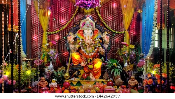 Lord Ganesha Festival Decoration Ganesh Chaturthi The Arts