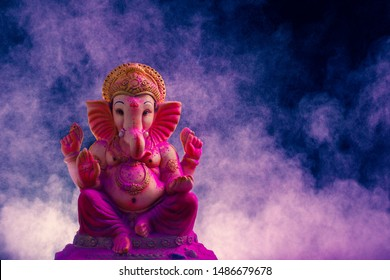 Lord Ganesha , Ganesha Festival , Lord Ganesha on colorful Background