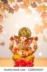 Lord Ganesha Ganapati with blurred bokeh background