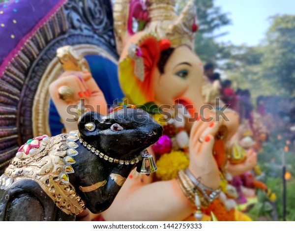 Lord Ganesha Photography Ganpati Bappa Moraya Stock Photo Edit Now 1442759333