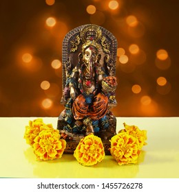lord ganesha for religious,marriage invitation,diwali,new year,ganesh chaturthi,festival related concept