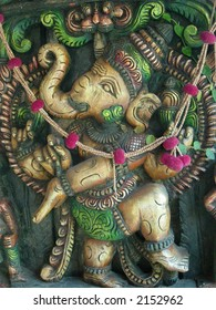 lord ganesha in a standing pose