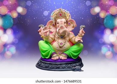 Lord Ganpati background for Ganesh Chaturthi, Ganpati