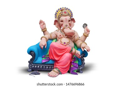 Lord Ganpati, Ganpati on White Background, Ganpati, happy Ganesh Chaturthi