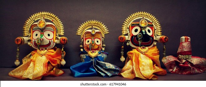 Lord Jagannath Hindu god krishna from Puri, Odisha India.