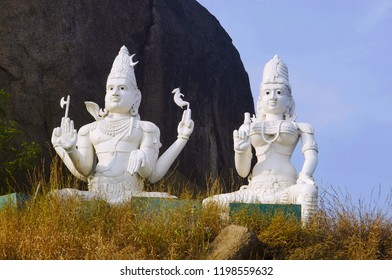 Lord Shiva and Parvati, Bhadrakali Temple, Warangal, Telangana India