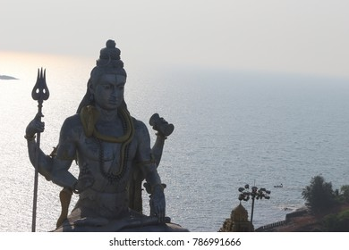 Lord Shiva statue at Murdeshwar Karnataka.Famous for the world's second tallest Shiva statue.