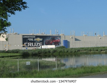 Lordstown, Ohio/USA-June 3, 2011: The GM factory in Lordstown, Ohio where the Chevy Cruze is assembled. The automaker announced that it would idle the plant.
