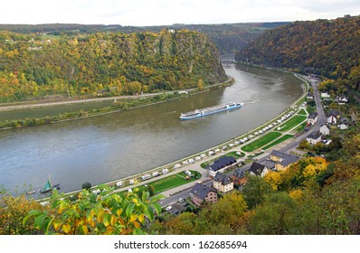 Loreley Rock at the Rhine River in Germany