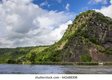Loreley Rock at river Rhine, Germany