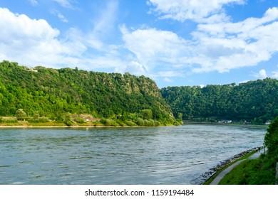 Loreley rocks on the Rhine in Germany at Goarhausen