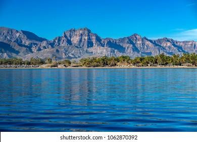 Loreto coast panorama Baja California Sur Rocks desert landscape view