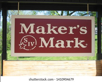 Loretto, KY / USA - April 7, 2012 - Maker's Mark sign at the entrance of the Maker's Mark bourbon distillery.