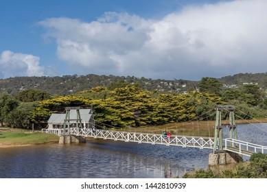 Lorne's beautiful Swing Bridge on a sunny day, Great Ocean Road, Australia