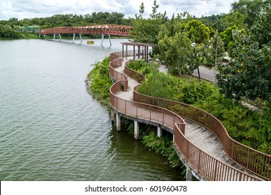 Lorong Halus Bridge at Punggol Waterways, Singapore