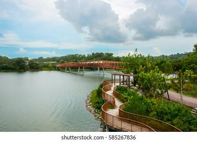 Lorong Halus Bridge, Lorong Halus Wetland Centre, Punggol Promenade Riverside Walk, Singapore