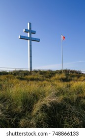 The Lorraine cross at Juno Beach, France