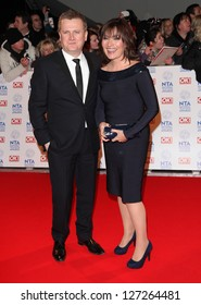 Lorraine Kelly and Aled Jones arriving for the National Television Awards 2013, at the O2 Arena, London. 23/01/2013 Picture by: Alexandra Glen
