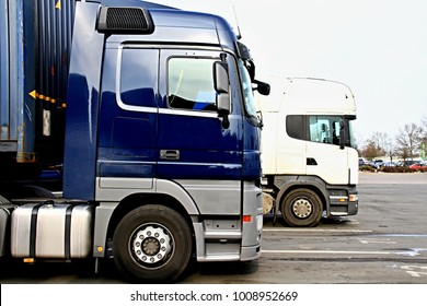 lorries parked up