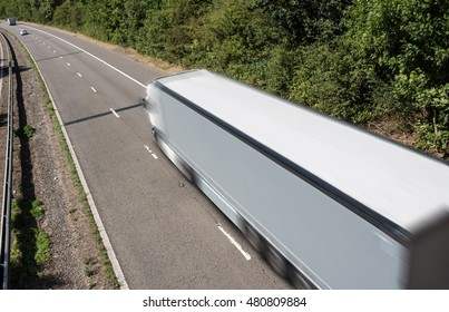 Lorry in motion on the motorway