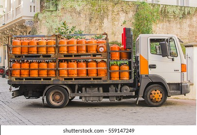 Gas Cylinders On A Truck Images Stock Photos Vectors Shutterstock