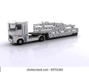 Lorry with tag cloud load
