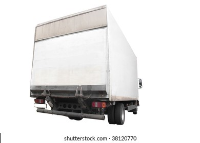 lorry under the white background