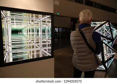 Los Angeles, 1/24/2019: The LA Art Show at Los Angeles Convention Center which is the The Most Comprehensive International Contemporary Art Show in America.
