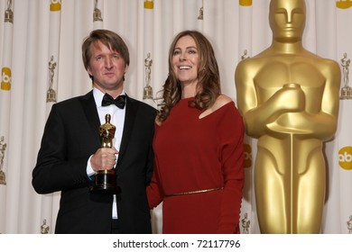LOS ANGELES -  27:  Tom Hooper, Kathryn Bigelow in the Press Room at the 83rd Academy Awards at Kodak Theater, Hollywood & Highland on February 27, 2011 in Los Angeles, CA