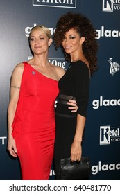 LOS ANGELES - APR 1:  Teri Polo, Sherri Saum at the 28th Annual GLAAD Media Awards at Beverly Hilton Hotel on April 1, 2017 in Beverly Hills, CA