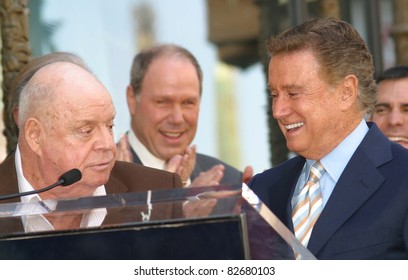 LOS ANGELES - APR 10: Don Rickles; Regis Philbin at a ceremony where Regis Philbin receives the 2222th star in Los Angeles, California on April 10, 2003