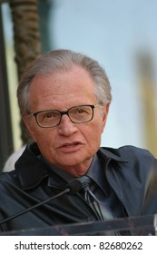 LOS ANGELES - APR 10: Larry King at a ceremony where Regis Philbin receives the 2222th star in Los Angeles, California on April 10, 2003