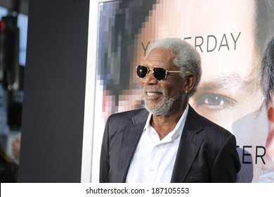 """LOS ANGELES - APR 10:  Morgan Freeman at the """"Transcendence"""" Premiere at Village Theater on April 10, 2014 in Westwood, CA"""