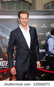 "LOS ANGELES - APR 11:  Alexander Skarsgard arrives at ""The Avengers"" Premiere at El Capitan Theater on April 11, 2012 in Los Angeles, CA"