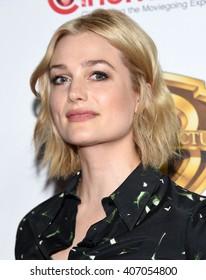 "LOS ANGELES - APR 12:  Alison Sudol arrives to the CinemaCon 2016: Warner Bros. ""The Big Picture"" Presentation  on April 12, 2016 in Las Vegas, NV."