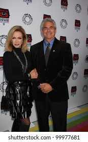 """LOS ANGELES - APR 12:  Donna Mills arrives at Warner Brothers """"Television: Out of the Box"""" Exhibit Launch at Paley Center for Media on April 12, 2012 in Beverly Hills, CA"""