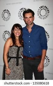 LOS ANGELES - APR 12:  Kimberly McCullough, Jason Thompson arrives at the General Hospital Celebrates 50 Years - Paley at the Paley Center For Media on April 12, 2013 in Beverly Hills, CA