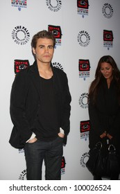"""LOS ANGELES - APR 12:  Paul Wesley arrives at Warner Brothers """"Television: Out of the Box"""" Exhibit Launch at Paley Center for Media on April 12, 2012 in Beverly Hills, CA"""