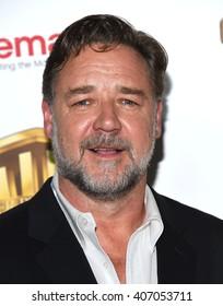 "LOS ANGELES - APR 12:  Russell Crowe. arrives to CinemaCon 2016: Warner Bros. ""The Big Picture"" Presentation April 12, 2016 in Las Vegas, NV."