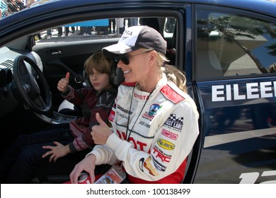 LOS ANGELES - APR 14:  Eileen Davidson, son at the 2012 Toyota Pro/Celeb Race at Long Beach Grand Prix on April 14, 2012 in Long Beach, CA.
